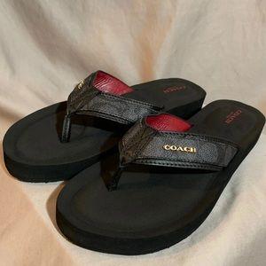 LIKE NEW Coach Judy Flip Flop Sandals Size 10
